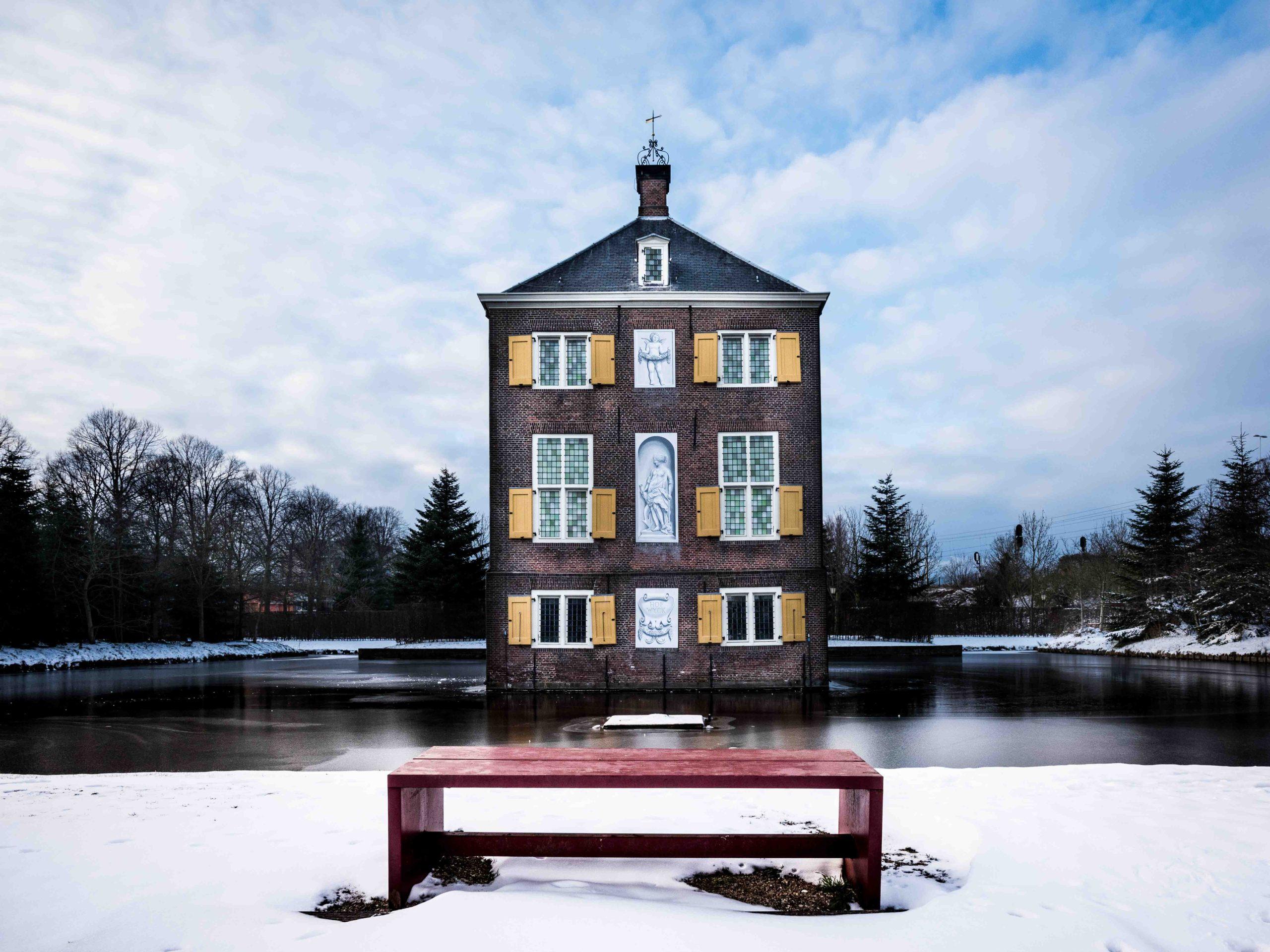 Kasteel Hofwijck in de winter